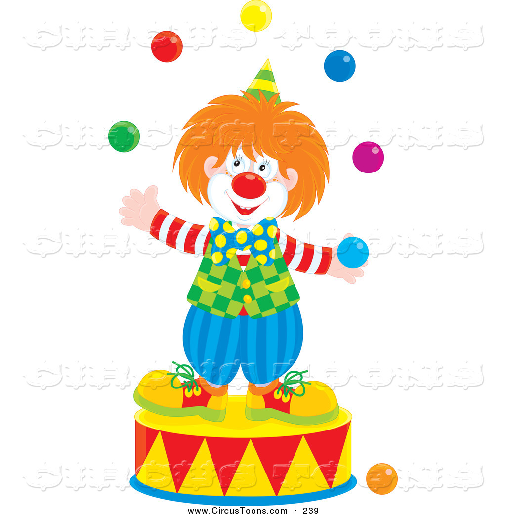 1024x1044 Circus Clipart Of A Smiling Clown Juggling On A Podiumsmiling
