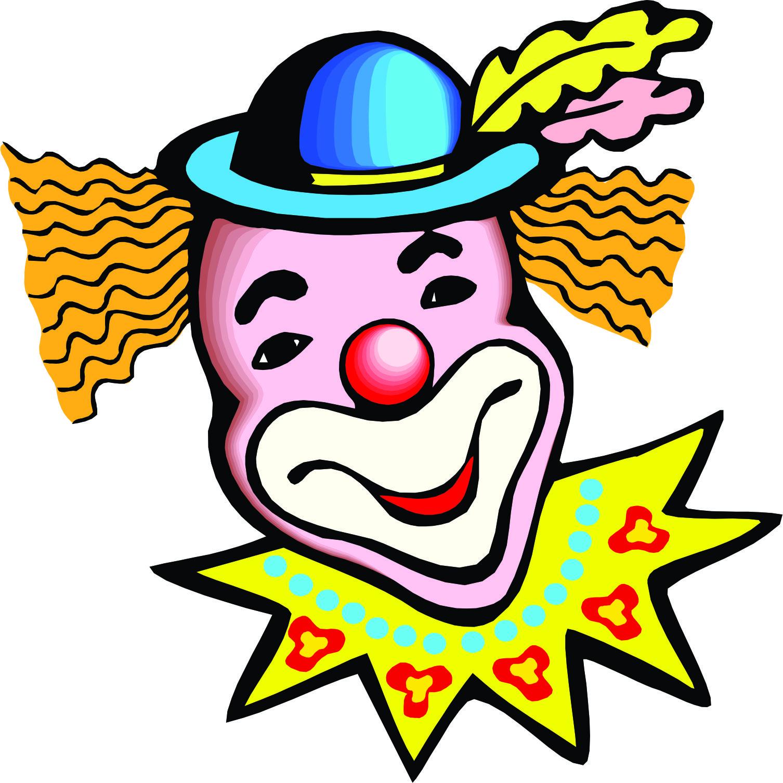 1506x1507 Circus Joker Face Clipart