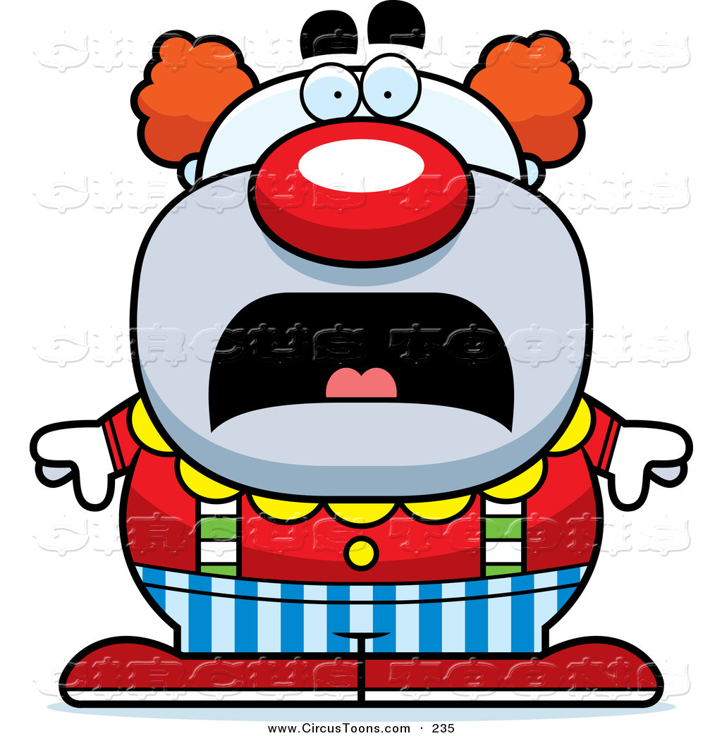 1024x1044 Circus Clipart Of A Scared Pudgy Circus Clown Frowning By Cory