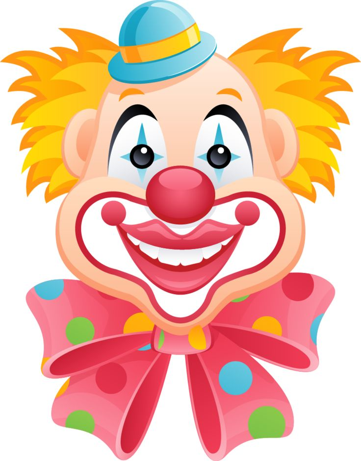 736x941 Clowns On Clown Cake Clown Faces And Clown Cupcakes Clip Art