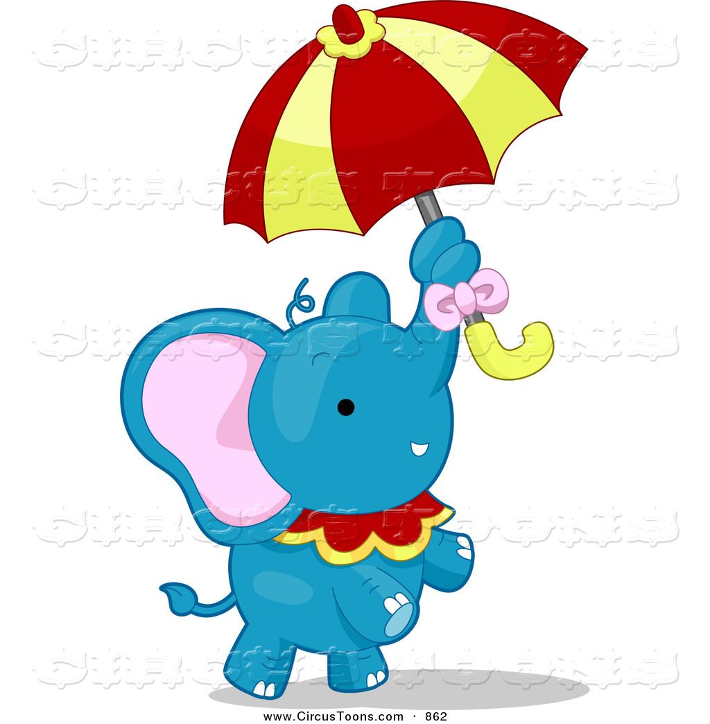 1024x1044 Circus Clipart Of A Blue Talented Elephant Standing