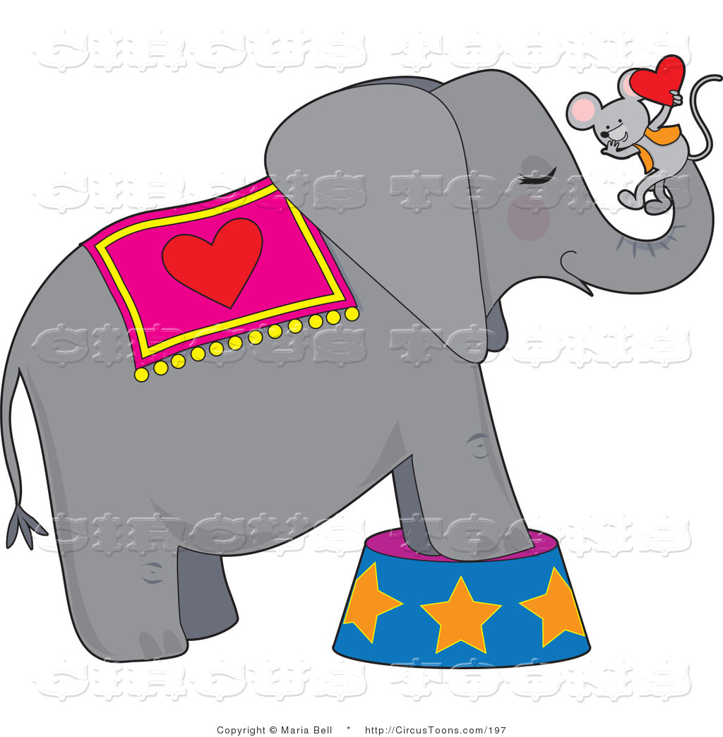 1024x1044 Circus Clipart Of Gray Circus Elephant With Mouse Holding