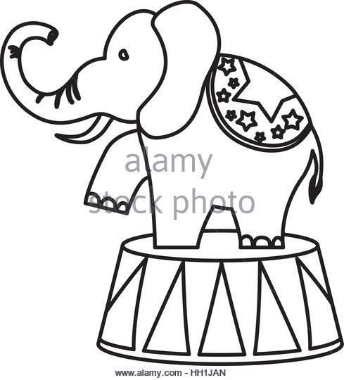 489x540 Circus Elephant Cartoon Icon Vector Stock Photos Amp Circus Elephant