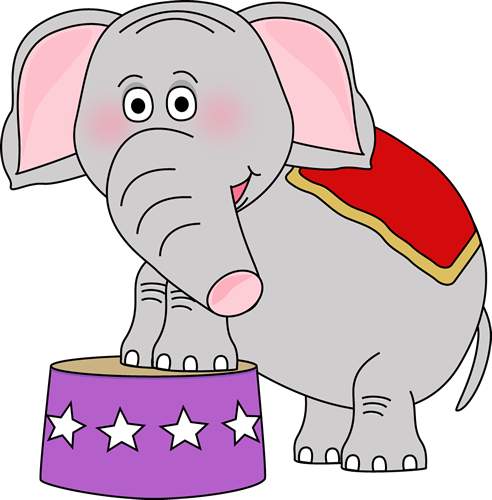 492x500 Circus Elephant Clip Art