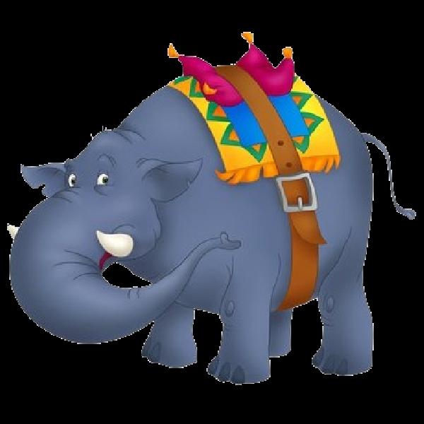 600x600 Funny Circus Elephant Clipart Image Elephants Clip