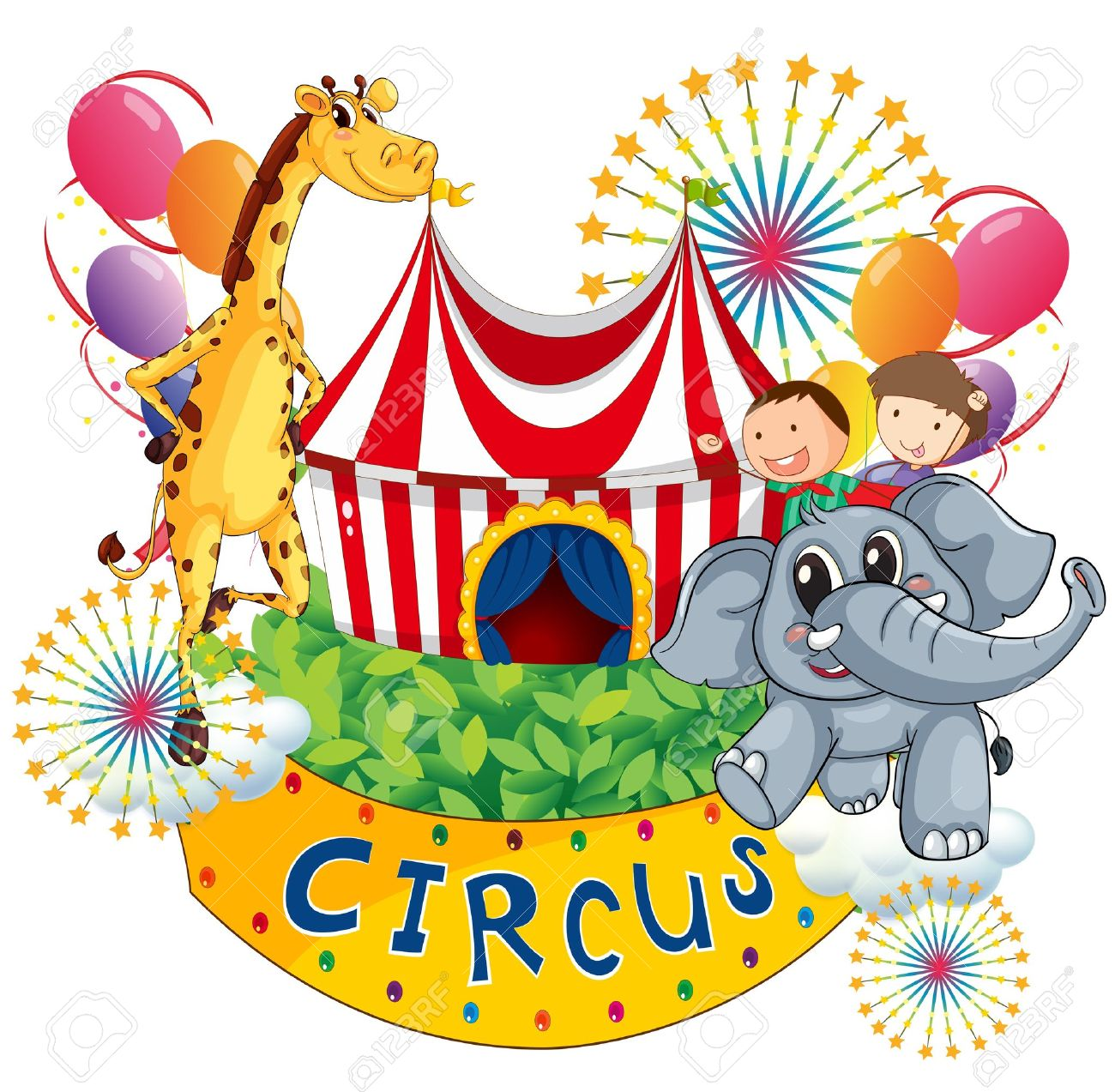 1300x1273 Circus Clipart Colorful Background