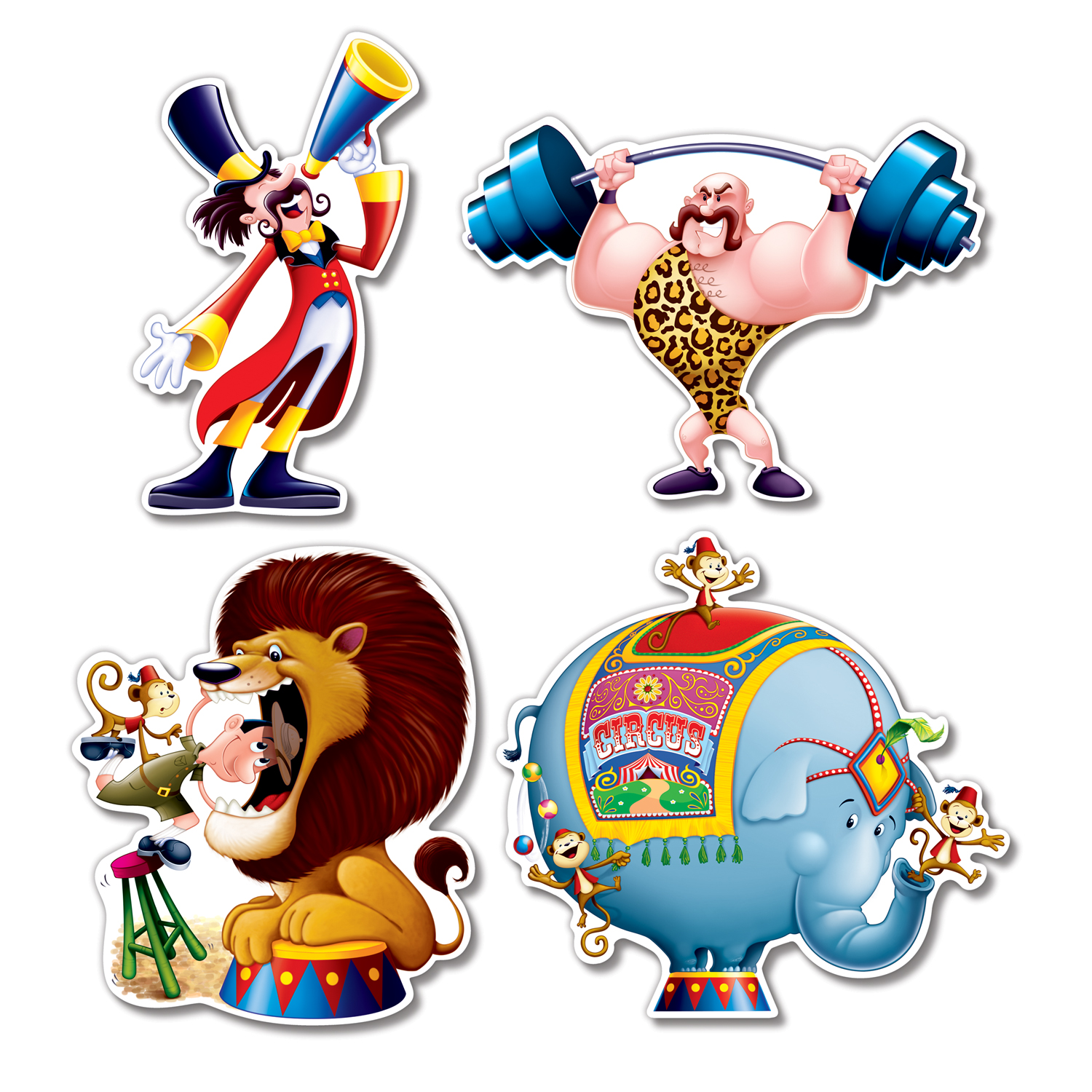 1500x1500 Circus Clipart Strong Man
