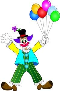 199x300 Circus Joker Clipart