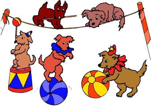 490x346 Clown Clipart Circus Dog