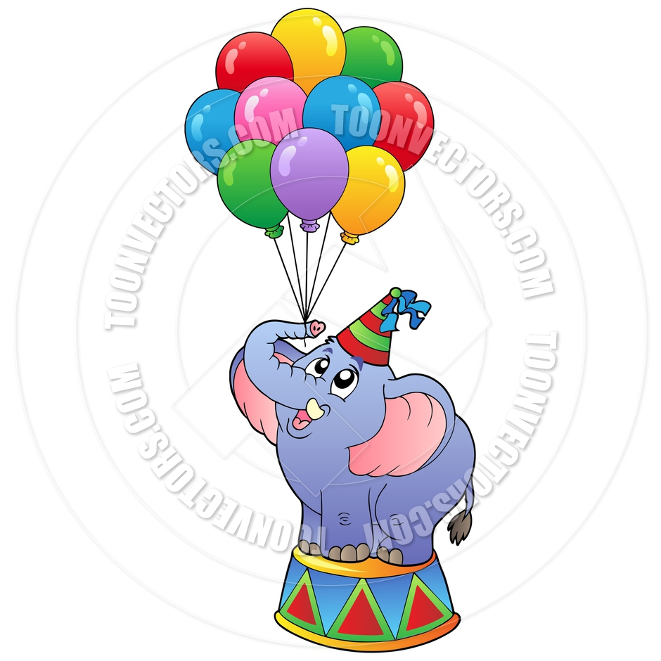940x940 Free Circus Elephant Clipart