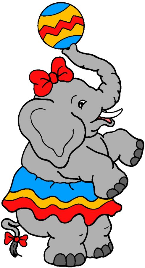 490x903 Little Elephant Girl Play Ball Circus Clipart