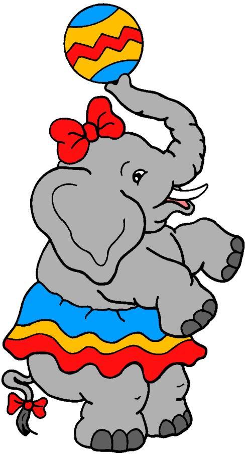 490x903 Little Elephant Girl Play Ball Circus Clipart