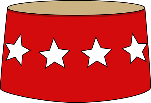 500x340 Red Circus Stool Clip Art