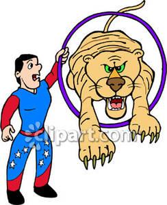 244x300 Tiger Jumping Through A Hoop