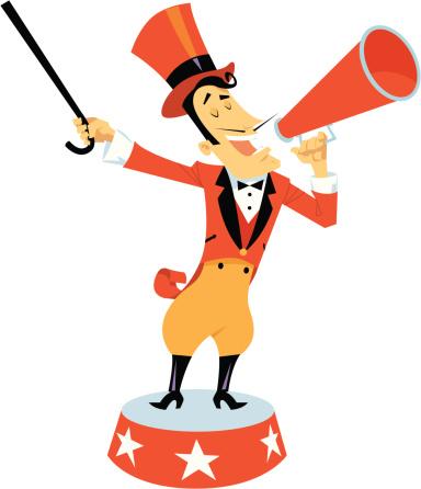 384x446 Circus Ringmaster Clipart