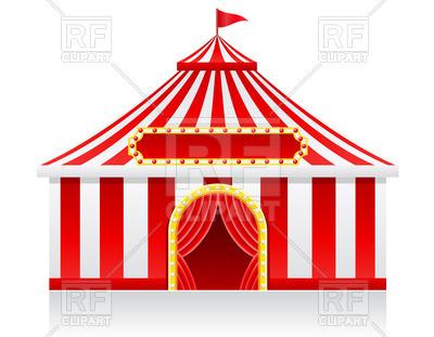400x311 Circus Tent Royalty Free Vector Clip Art Image