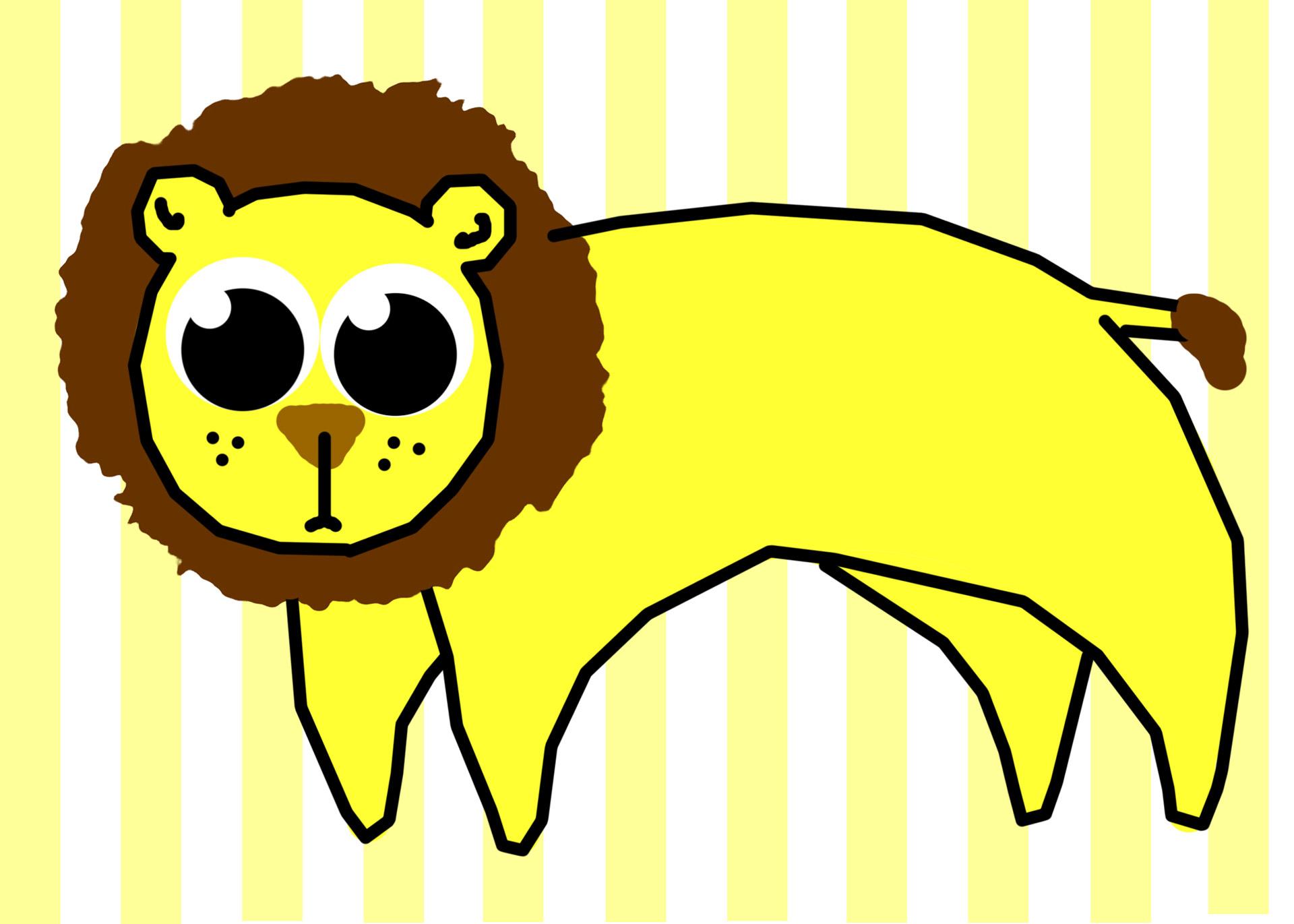 1920x1371 Lion Clip Art Free Stock Photo