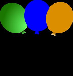 288x299 Circus Balloons Clip Art