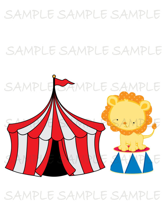 570x738 Circus Image Use As Printable Iron On Transfer Or Clip Art