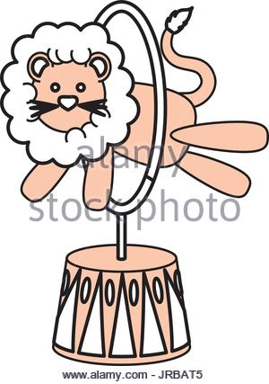 300x427 Circus Lion Cartoon Stock Vector Art Amp Illustration, Vector Image