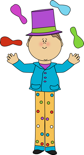270x500 Kid On Stilts Juggling Clip Art