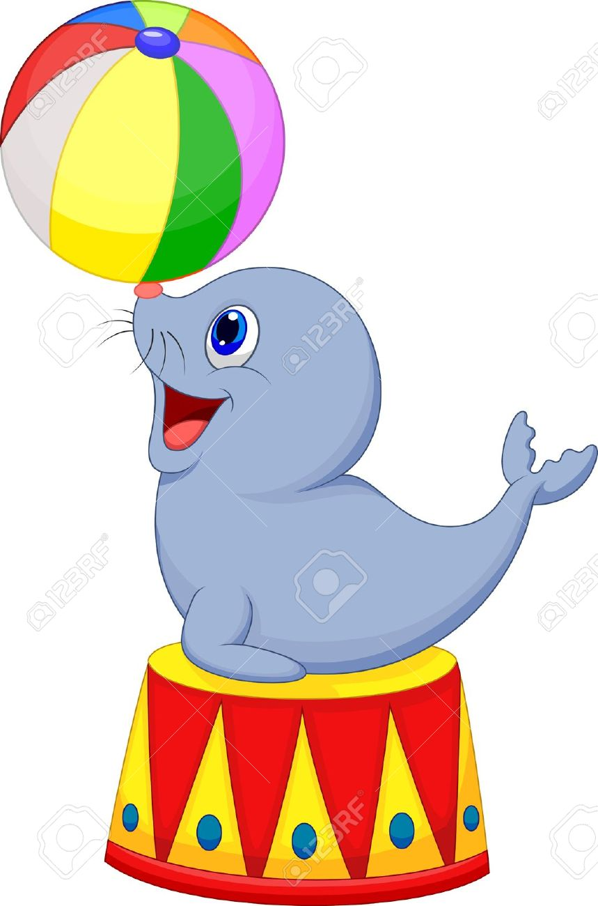 859x1300 Sea Lion Clipart Carnival