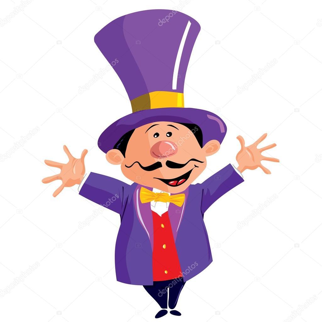 1024x1024 Cartoon Circus Ringmasterwith A Top Hat Stock Vector