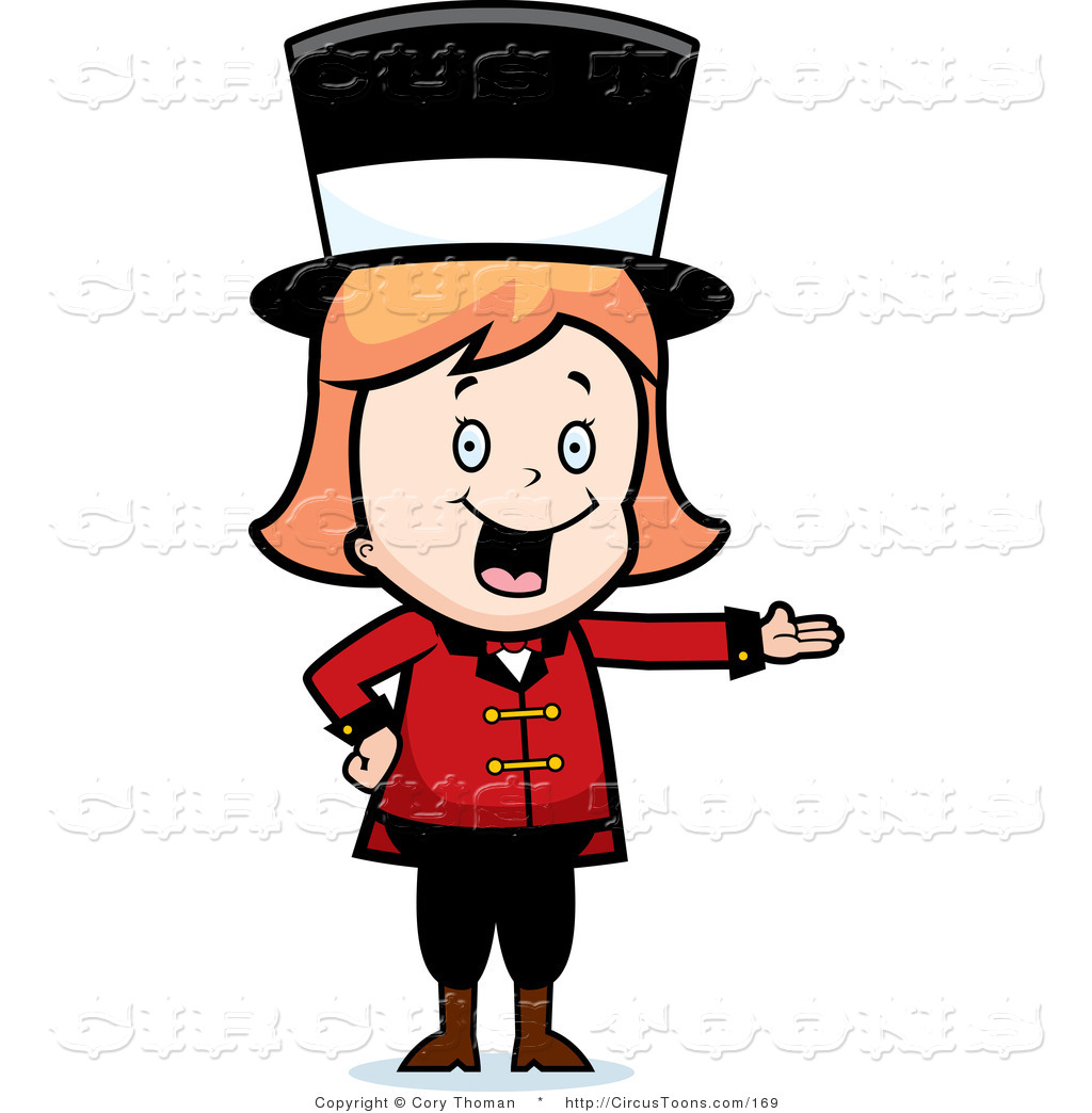 1024x1044 Circus Clipart Of A Blond Circus Ringmaster Woman Wearing A Hat