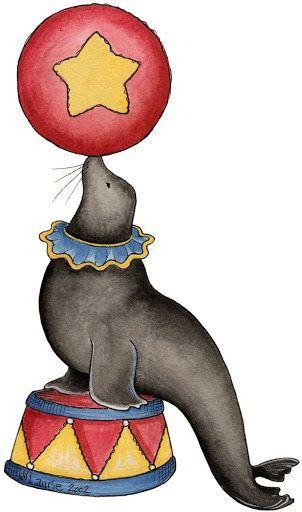 Circus Seal Clipart