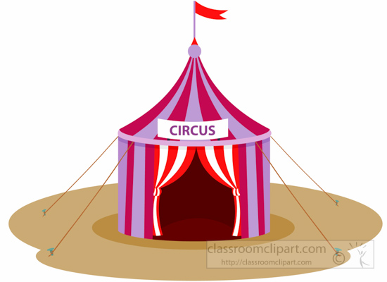 550x400 Circus Clipart Circus Tent With Flag Clipart