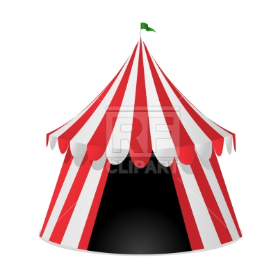 400x400 Circus Tent Royalty Free Vector Clip Art Image