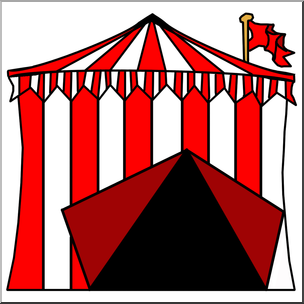 304x304 Clip Art Circus Tent Color I Abcteach