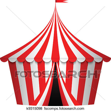 450x450 Clip Art Of Vector Illustration Of Circus Tent K9315098