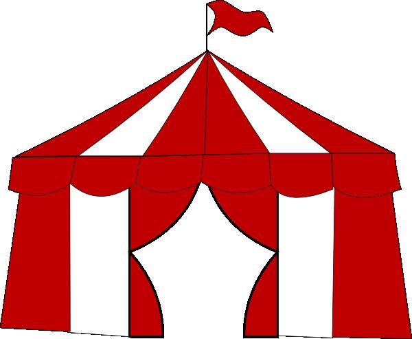 600x493 Blue Circus Tent. Clip Art