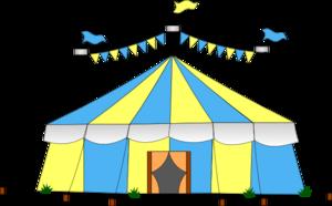 300x186 Blue Amp Yellow Big Circus Tent Clip Art