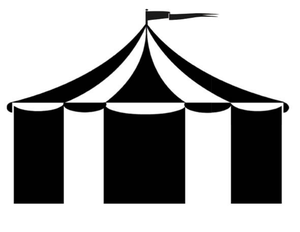 Circus Tent Clipart Black And White
