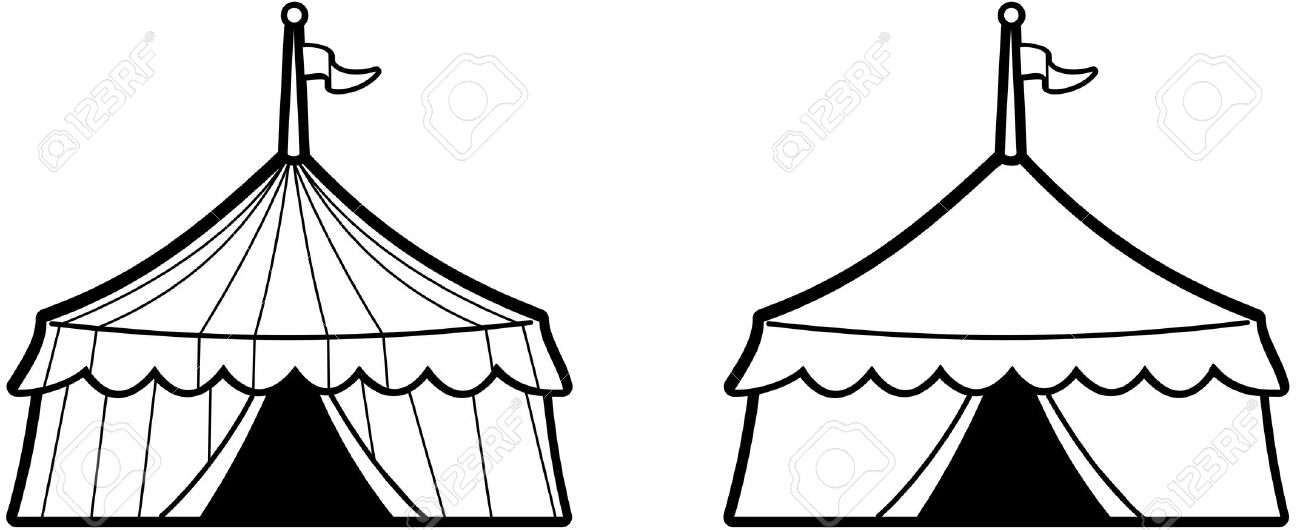 Circus Tent Clipart Black And White   Free download best ...
