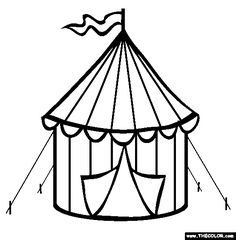 236x240 Circus tent pattern. Use the printable outline for crafts  sc 1 st  ClipArtMag & Circus Tent Clipart Black And White | Free download best Circus ...