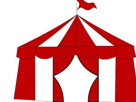 440x330 57 Carnival Tent, Cheerful Background With The Tent Of A Circus