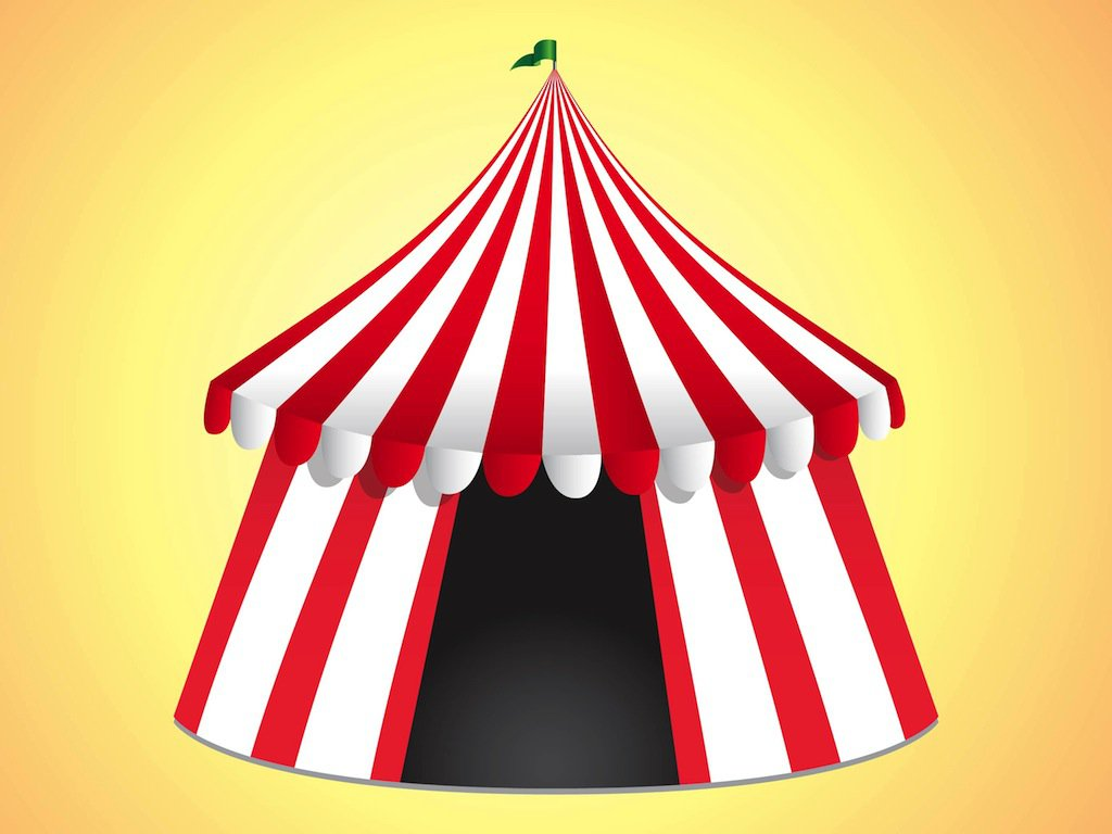 1024x768 Carnival Tent Clipart (40+) & Circus Tent Clipart Black And White | Free download best Circus ...