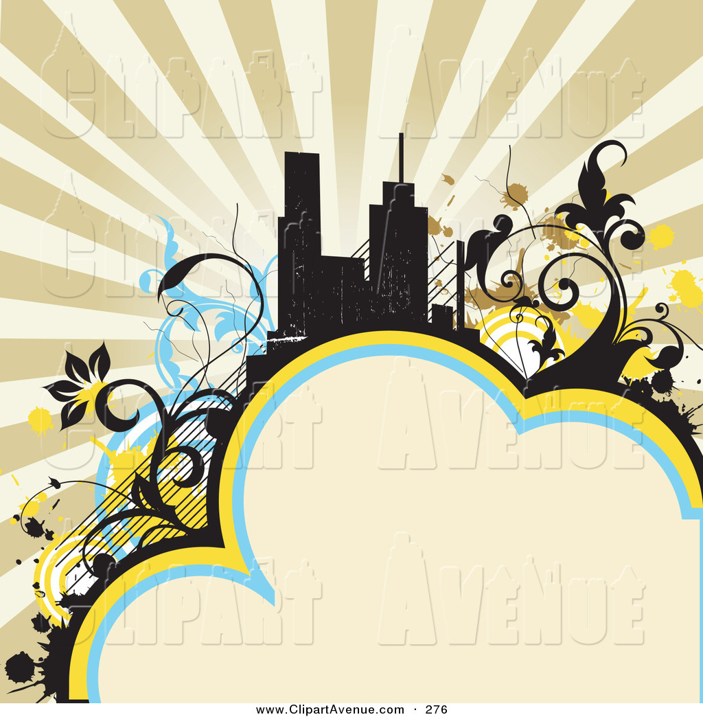 1024x1044 Avenue Clipart Of A Retro Background With Tall City Buildings
