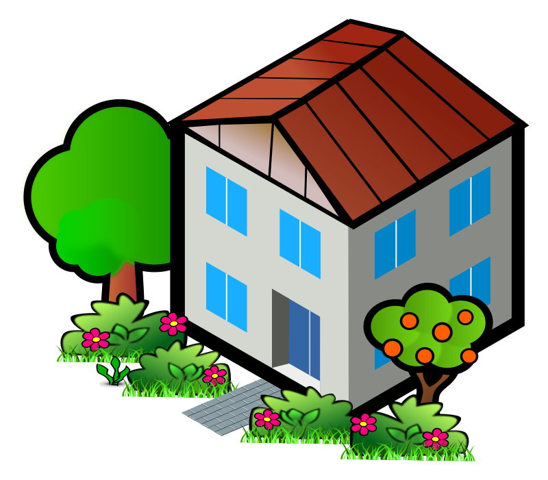800x701 City House Clipart