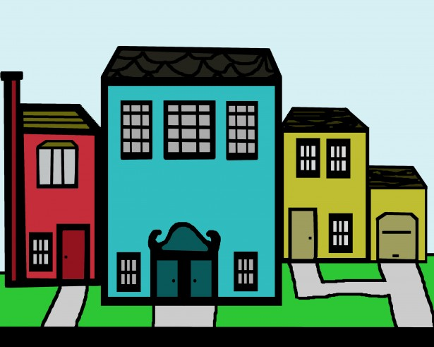 615x491 City Neighborhood Clipart