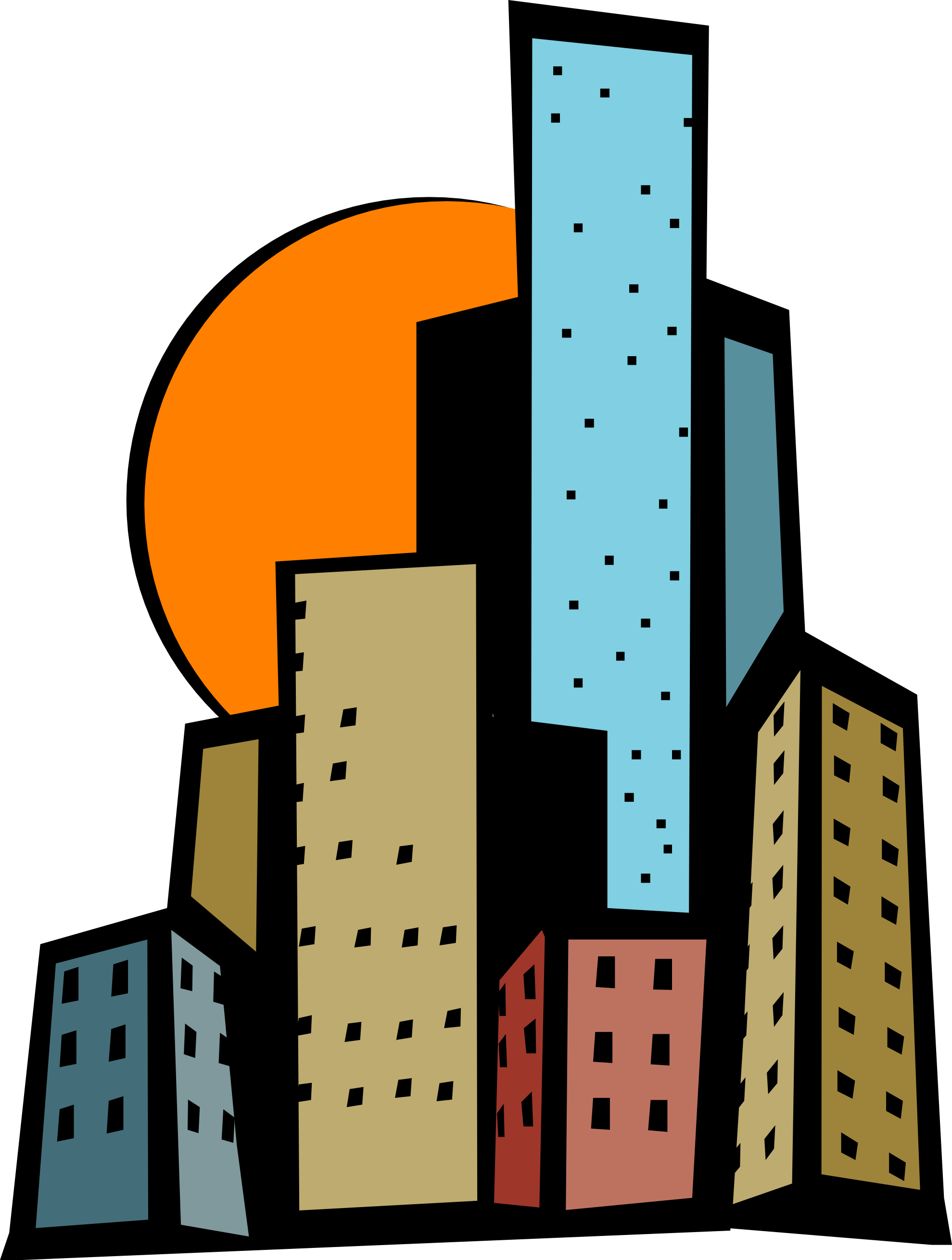1979x2618 City Clipart Animated
