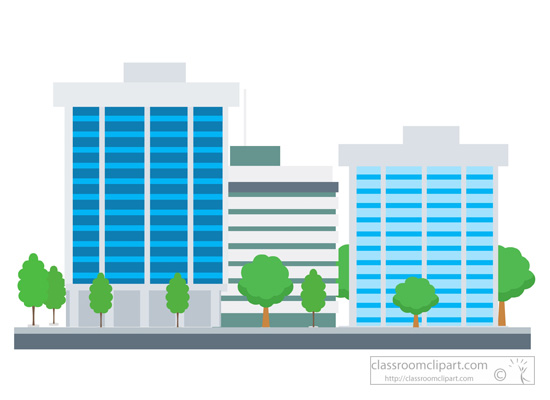 550x400 City Clipart Company Building