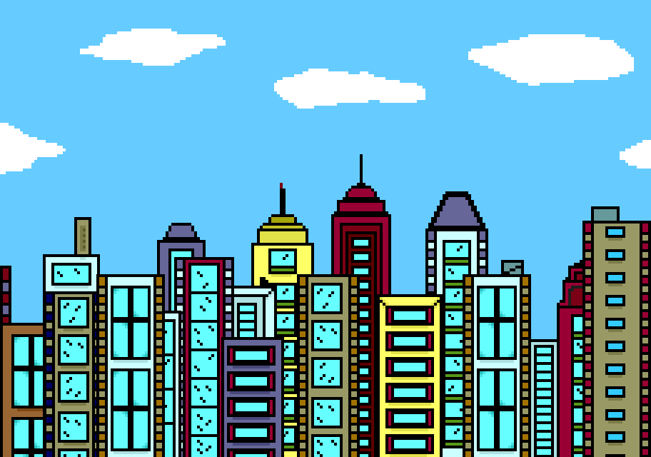 912x640 City Skyline Clipart Hostted
