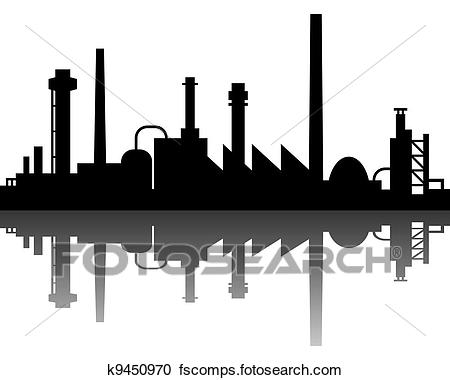 450x380 Clipart Of Industrial Background K9450970