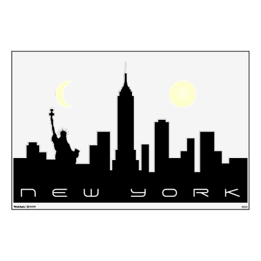 512x512 New York City Skyline Silhouette Clipart