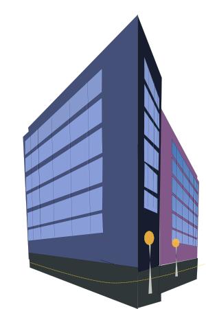 300x450 City Buildings Clip Art Download 4