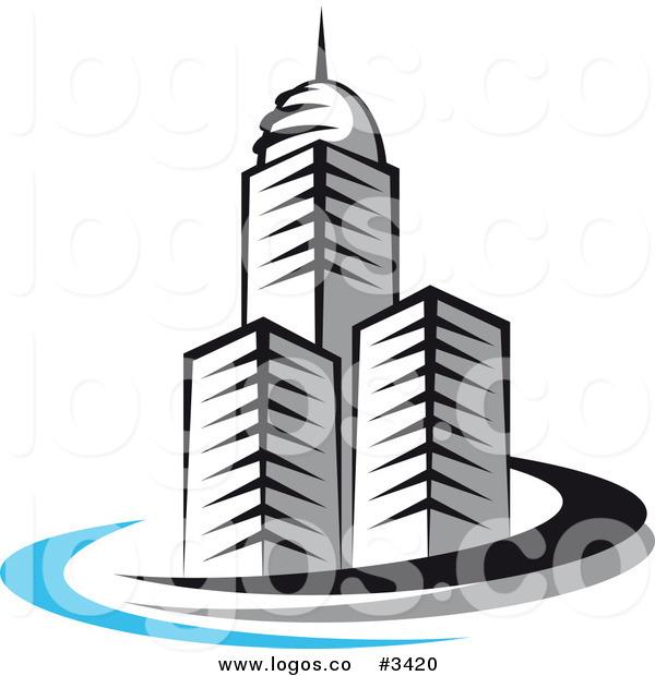 600x620 City Clipart Building Logo